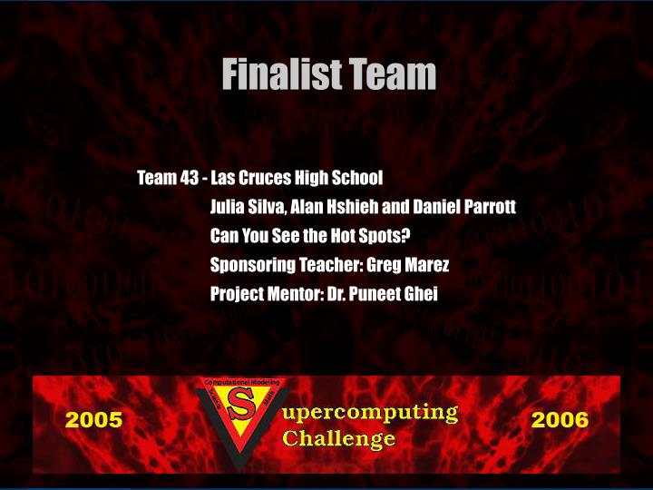 Team 43 - Las Cruces High School