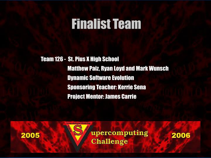 Team 126 -  St. Pius X High School