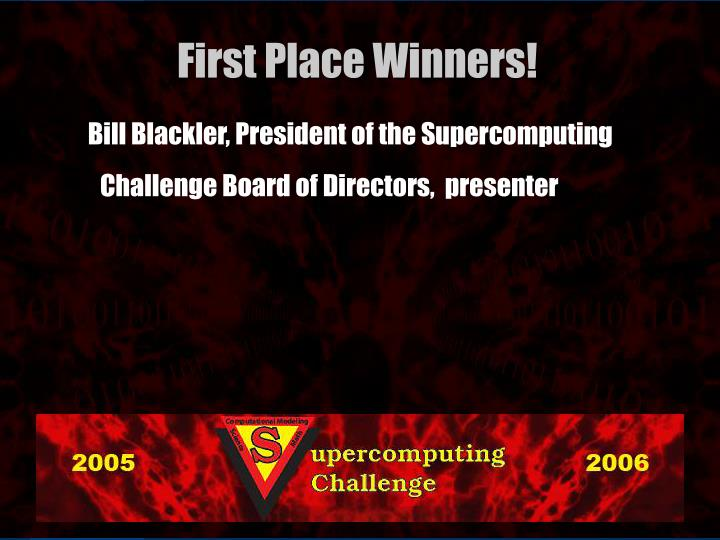 Bill Blackler, President of the Supercomputing Challenge Board of Directors,  presenter