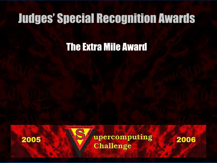 The Extra Mile Award
