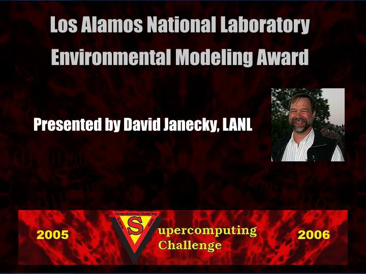 Presented by David Janecky, LANL
