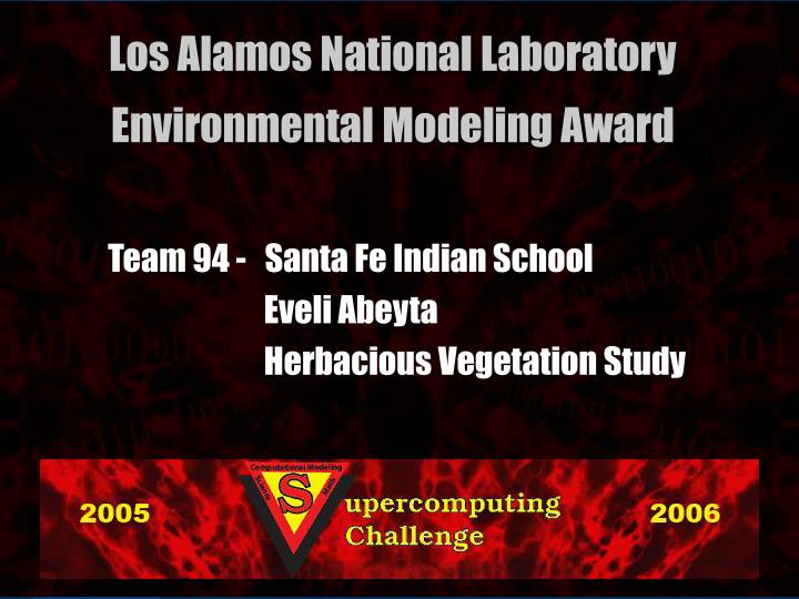Team 94 -   Santa Fe Indian School
