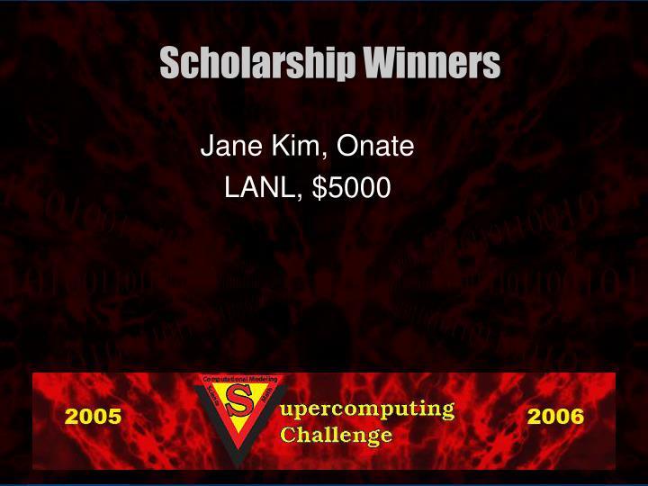 Jane Kim, Onate