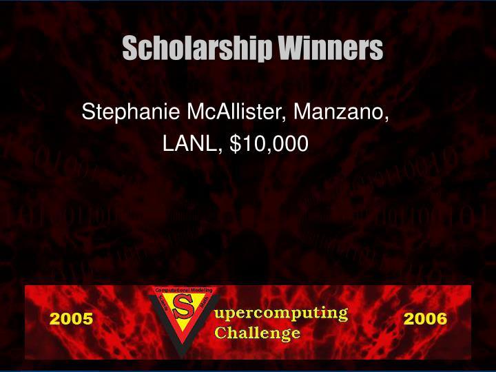 Stephanie McAllister, Manzano,