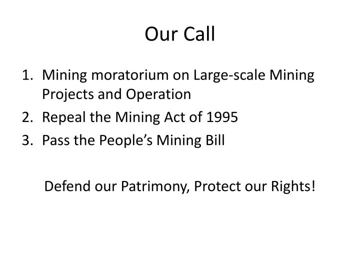 Our Call
