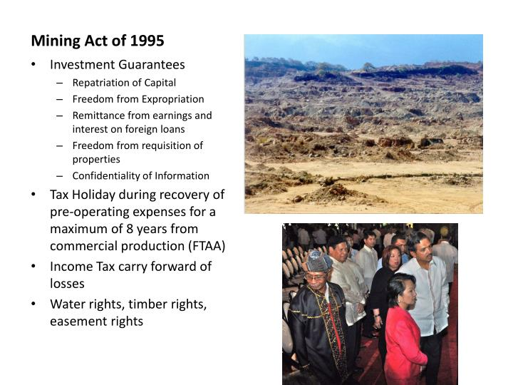 Mining Act of 1995