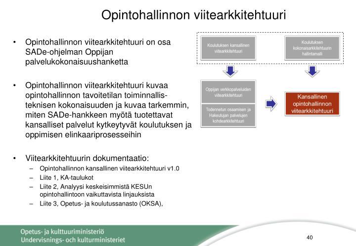 Opintohallinnon viitearkkitehtuuri