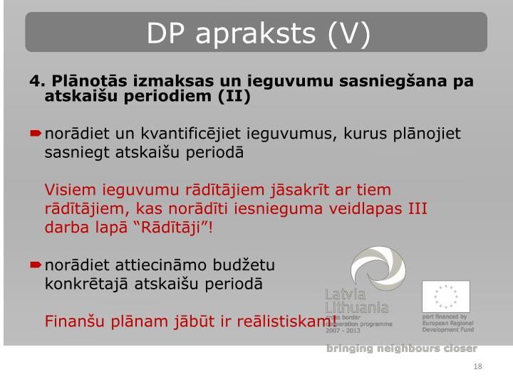 DP apraksts (V)