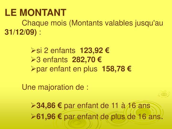 LE MONTANT