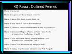 g report outlined formed