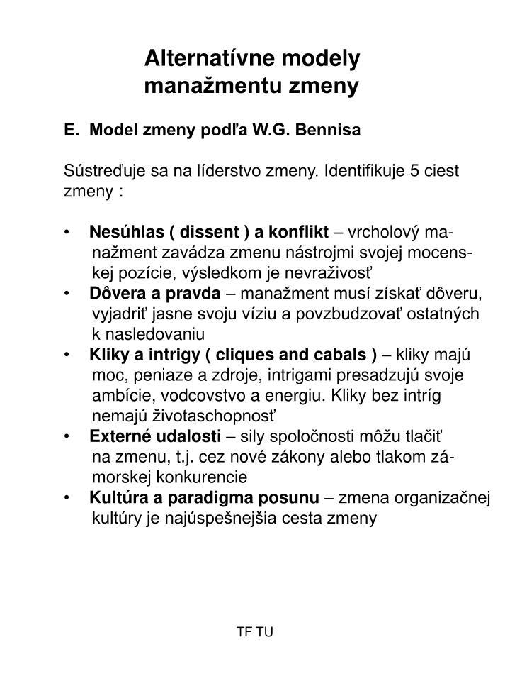 Alternatívne modely