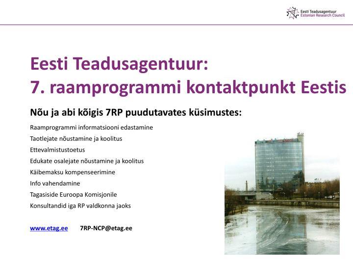 Eesti Teadusagentuur:
