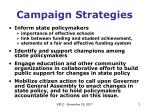 campaign strategies