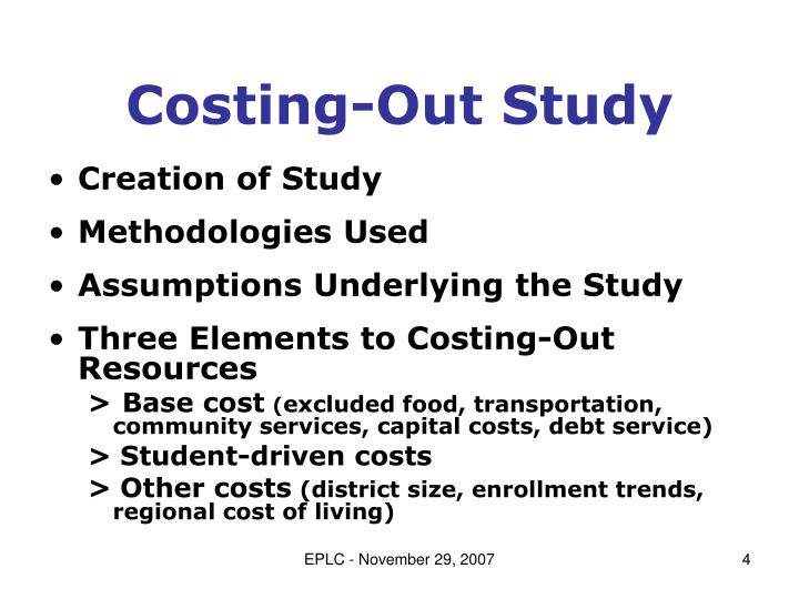 Costing-Out Study