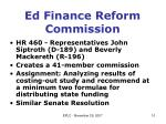 ed finance reform commission