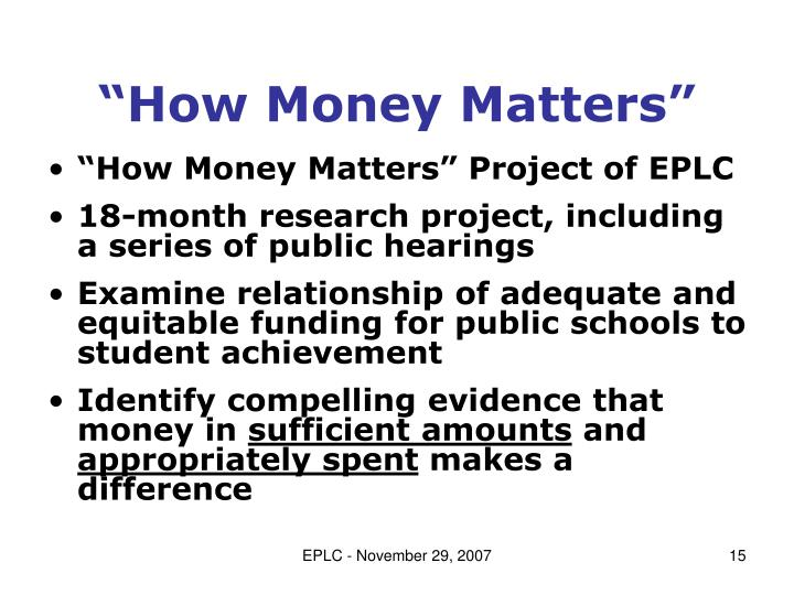 """How Money Matters"""