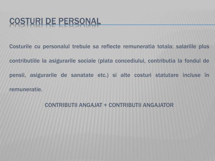 COSTURI DE PERSONAL