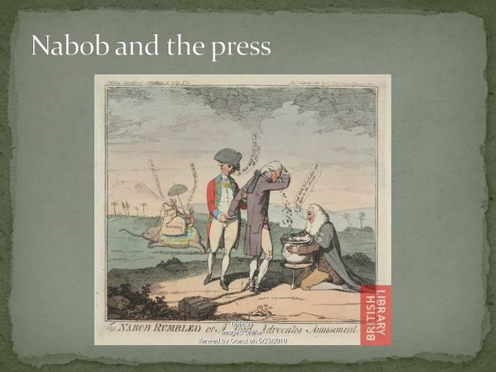 Nabob and the press
