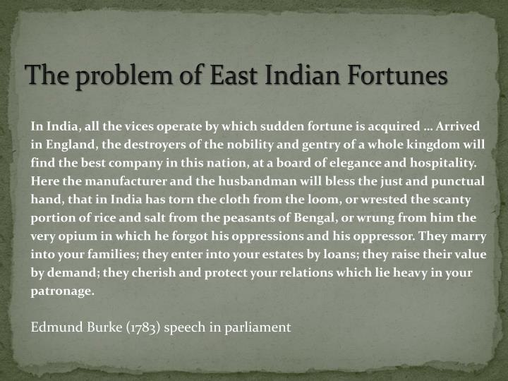 The problem of East