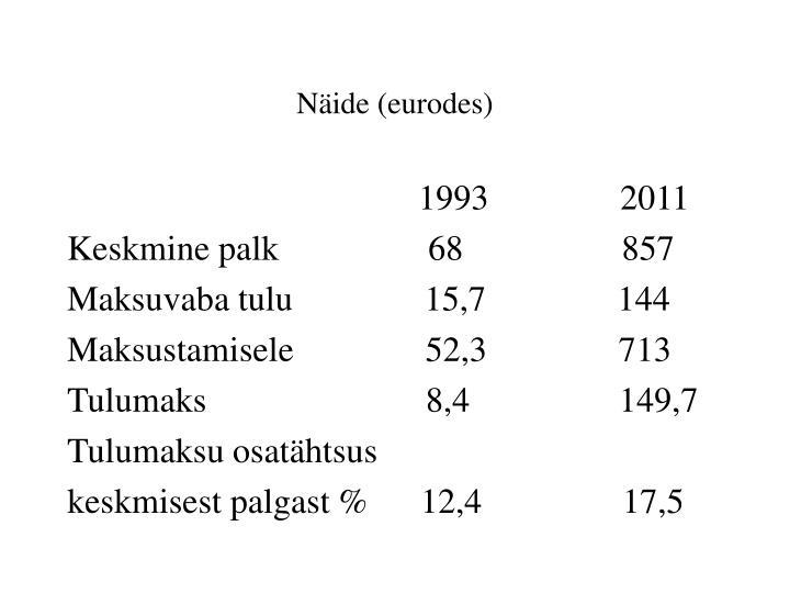 Näide (eurodes)