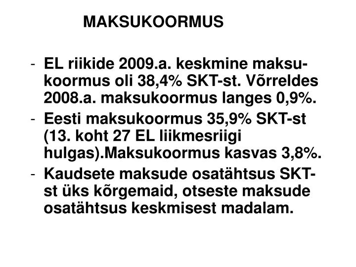 MAKSUKOORMUS