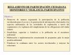 reglamento de participaci n ciudadana monitoreo y vigilancia participativo