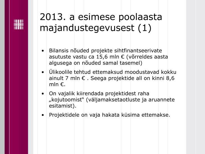 2013. a esimese poolaasta majandustegevusest (1)