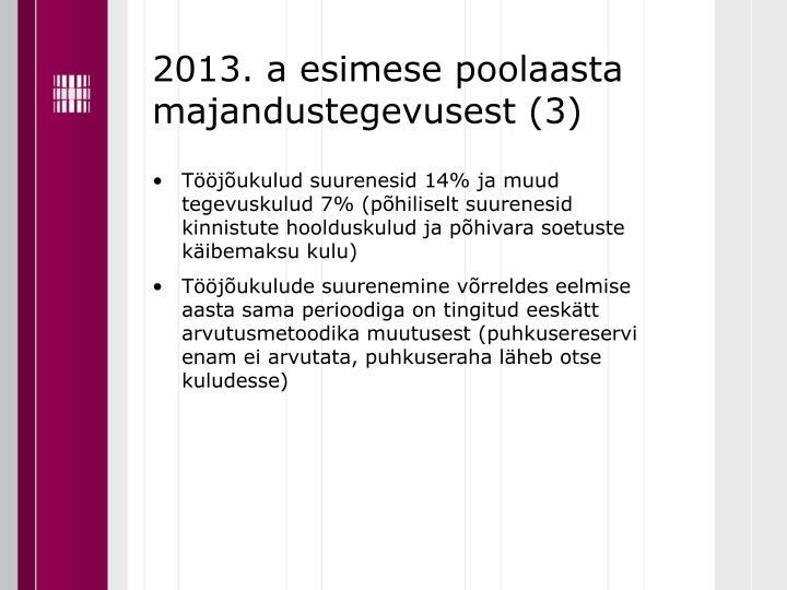 2013. a esimese poolaasta majandustegevusest (3)