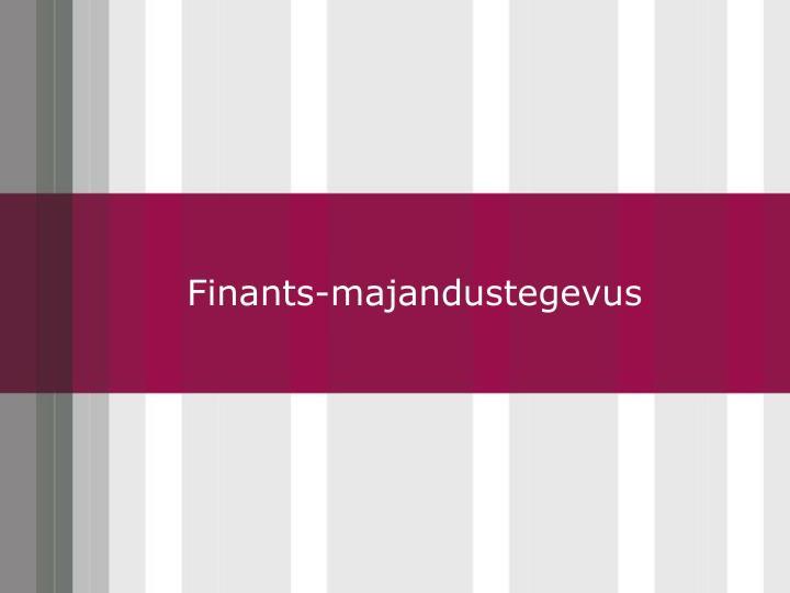 Finants-majandustegevus