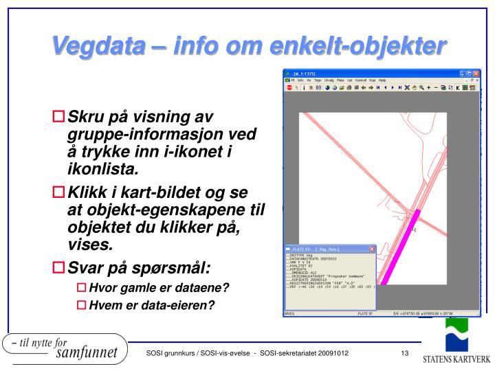 Vegdata – info om enkelt-objekter