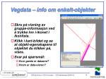 vegdata info om enkelt objekter