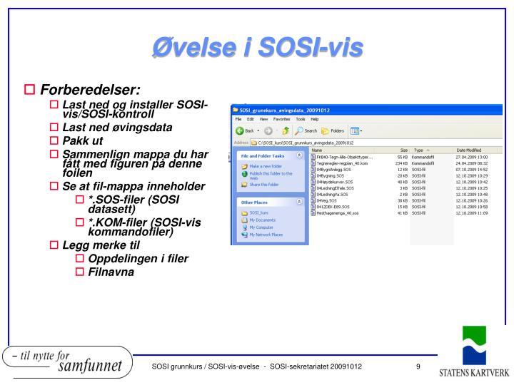 Øvelse i SOSI-vis
