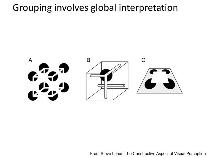 Grouping involves global interpretation
