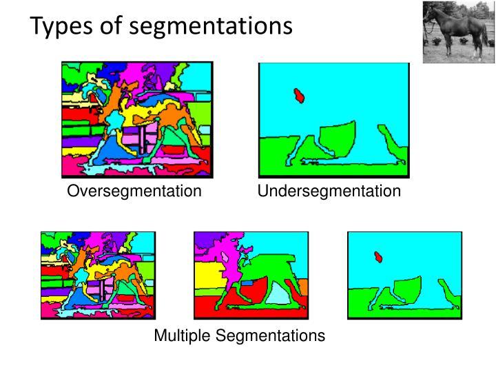 Types of segmentations