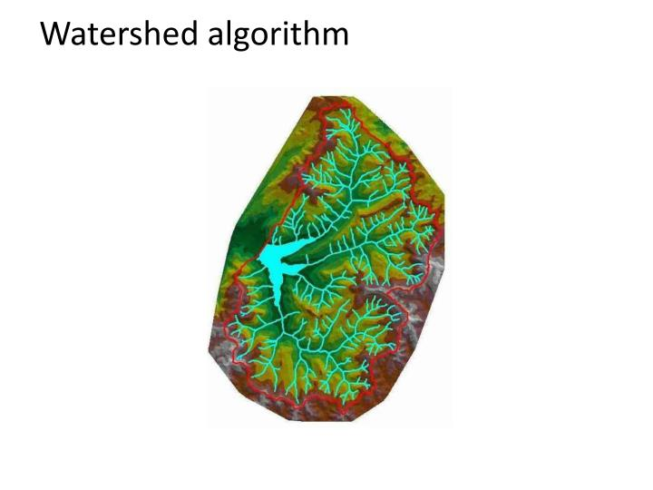 Watershed algorithm