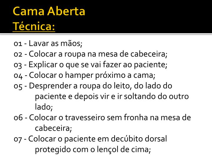 Cama Aberta