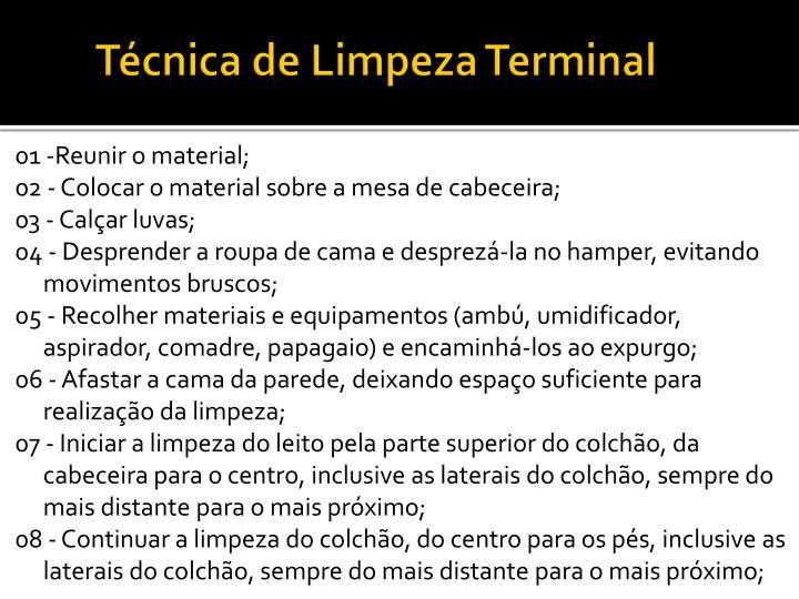 Técnica de Limpeza Terminal