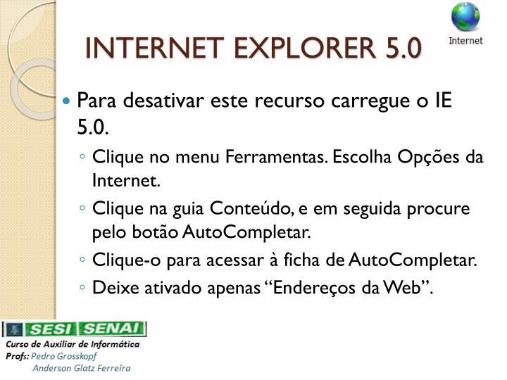 INTERNET EXPLORER 5.0