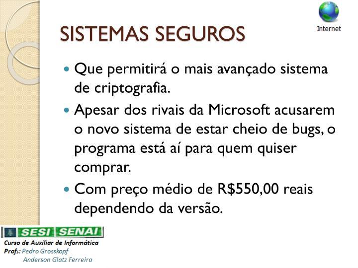 SISTEMAS SEGUROS