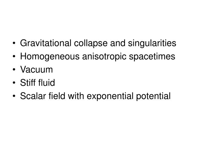 Gravitational collapse and singularities