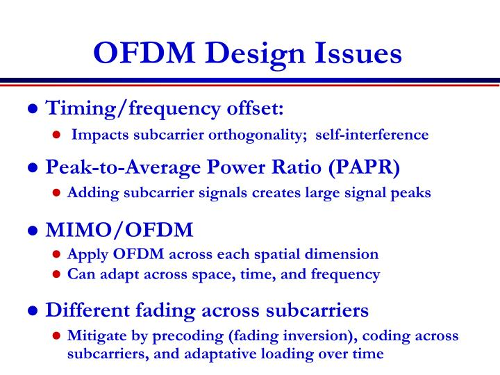 OFDM Design Issues