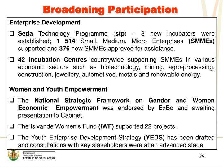 Broadening Participation