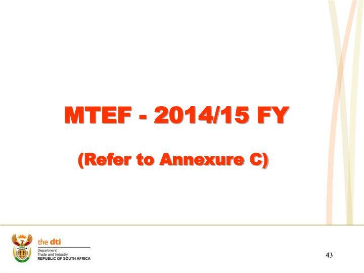MTEF - 2014/15