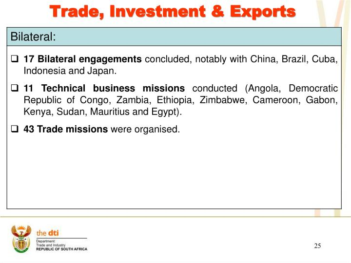 Trade, Investment & Exports