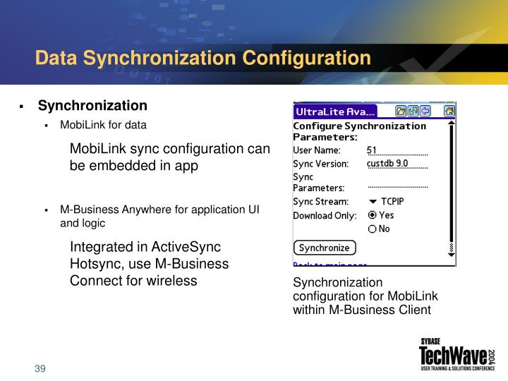 Data Synchronization Configuration