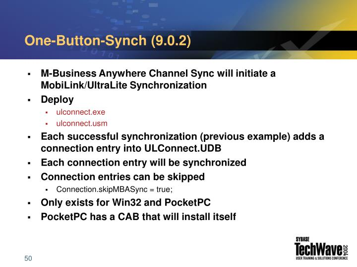 One-Button-Synch (9.0.2)