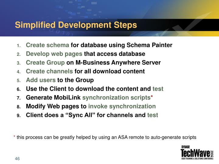 Simplified Development Steps