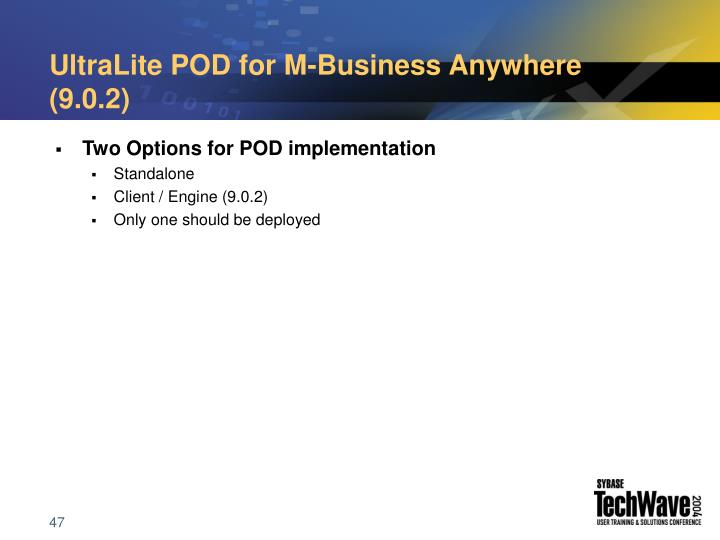 UltraLite POD for M-Business Anywhere (9.0.2)