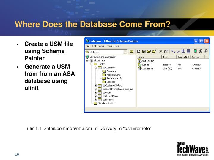 Where Does the Database Come From?