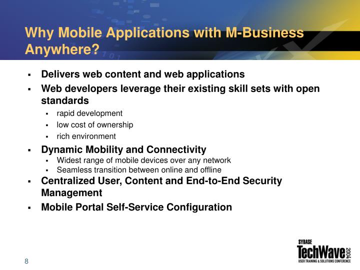 Why Mobile Applications with M-Business Anywhere?